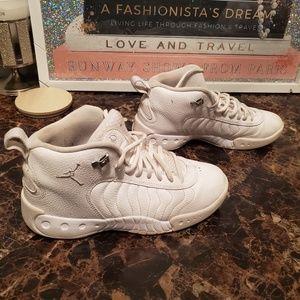 All WHITE JumpMan Jordans